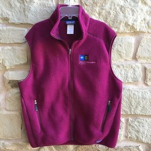 Patagonia Synchilla Vest Fleece Natl Geograp Logo